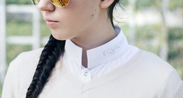 Sweter w serek DUJARDIN WOODROFFE DAMSKI, koszula konkursowa Equiline